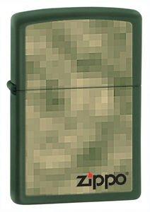 Zippo Zippo Unfocused Green Matte Finish - Zippo 28036