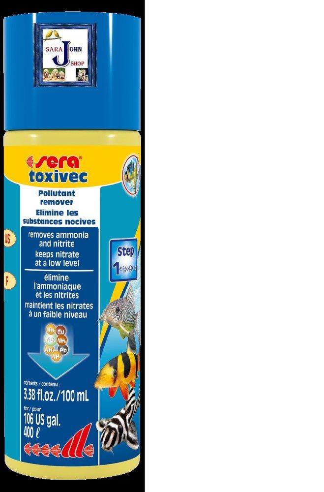Sera Toxivec Aquarium Treatment removes Chlorine, Ammonia & Nitrite-100ml