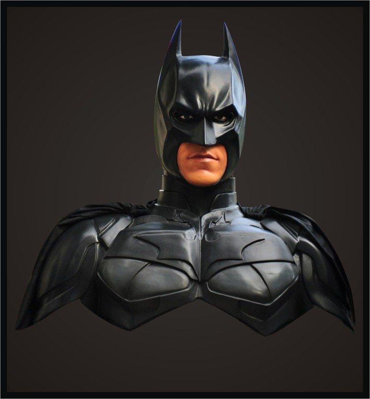 Custom Made Life Size Batman Dark Knight Superhero Bust Figure Prop