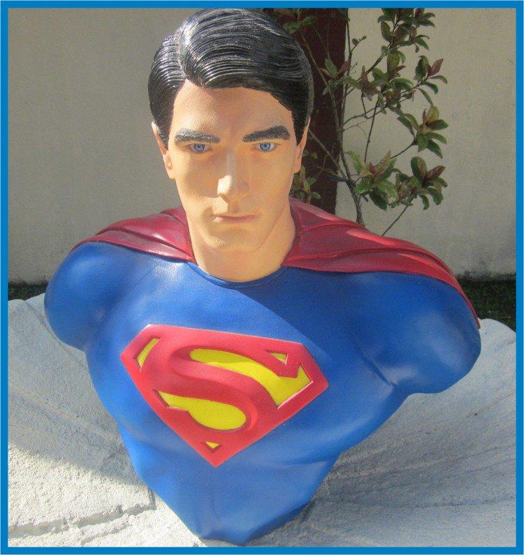 Custom Made Life Size Brandon Routh Superman Superhero Bust Figure Prop