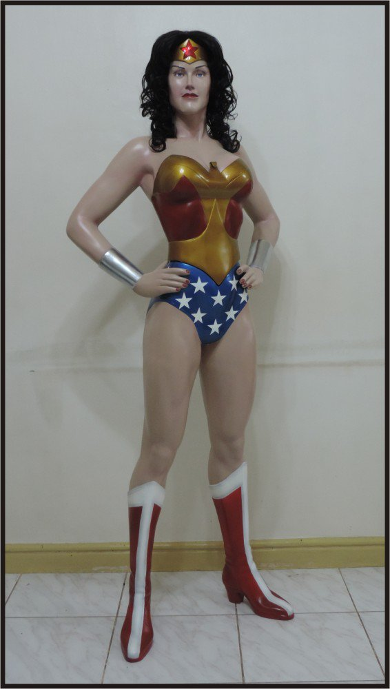 Custom Made Life Size Alex Ross Deluxe Wonder Woman Superhero Statue Prop
