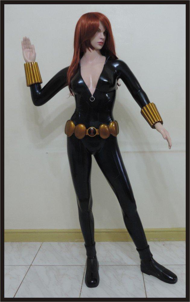 Custom Made Life Size Black Widow Superhero Statue Prop (Edition 1)