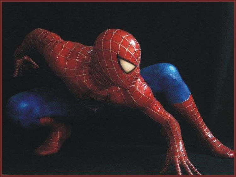 Custom Made Life Size Tobey Maguire Spiderman Stealth Crawling Superhero Statue Prop
