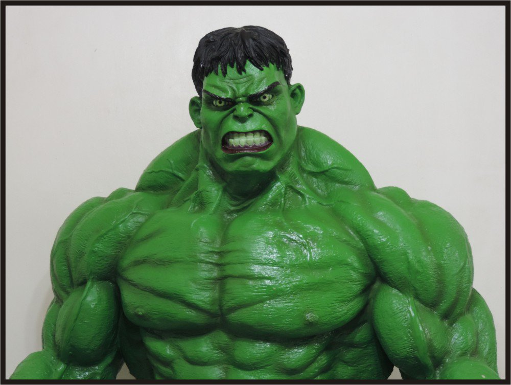 Custom Made Life Size Hulk Superhero Statue Prop
