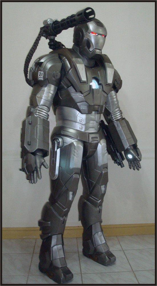 Custom Made Life Size Iron Man War Machine-001 Superhero Statue Prop