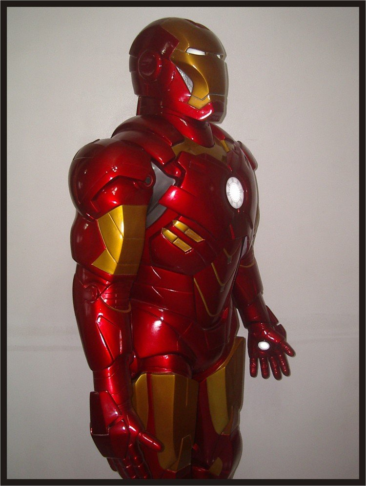 Custom Made Life Size Iron Man Mk4 Superhero Statue Prop