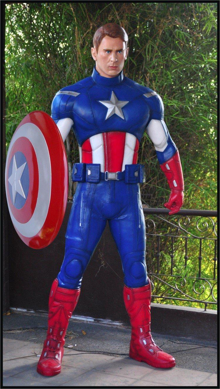 Custom Made Life Size Chris Evans Captain America Revealed Superhero Statue Prop