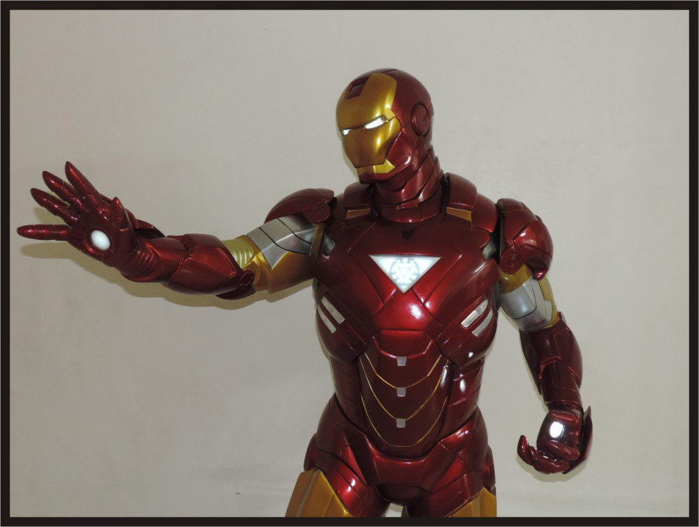 Custom Made Life Size Iron Man Mk6 Edition-2 Superhero Statue Prop