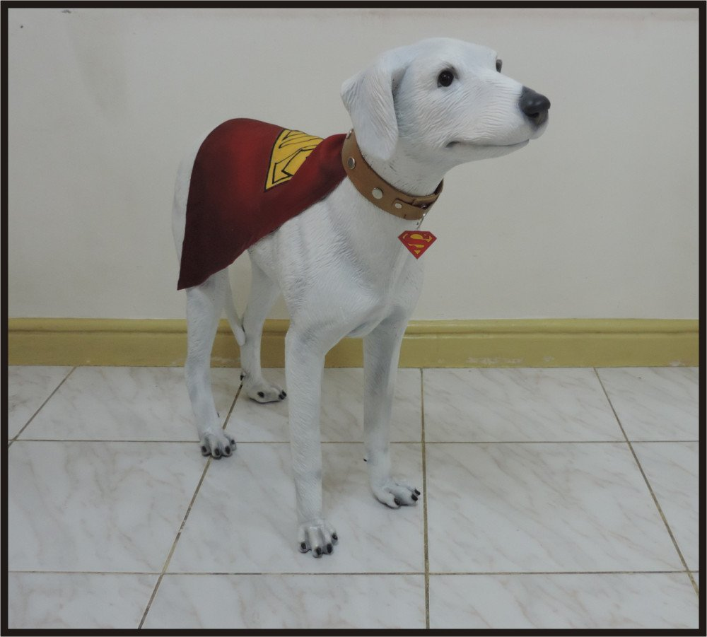 Custom Made Life Size Classic Superdog Krypto Superhero Statue Prop