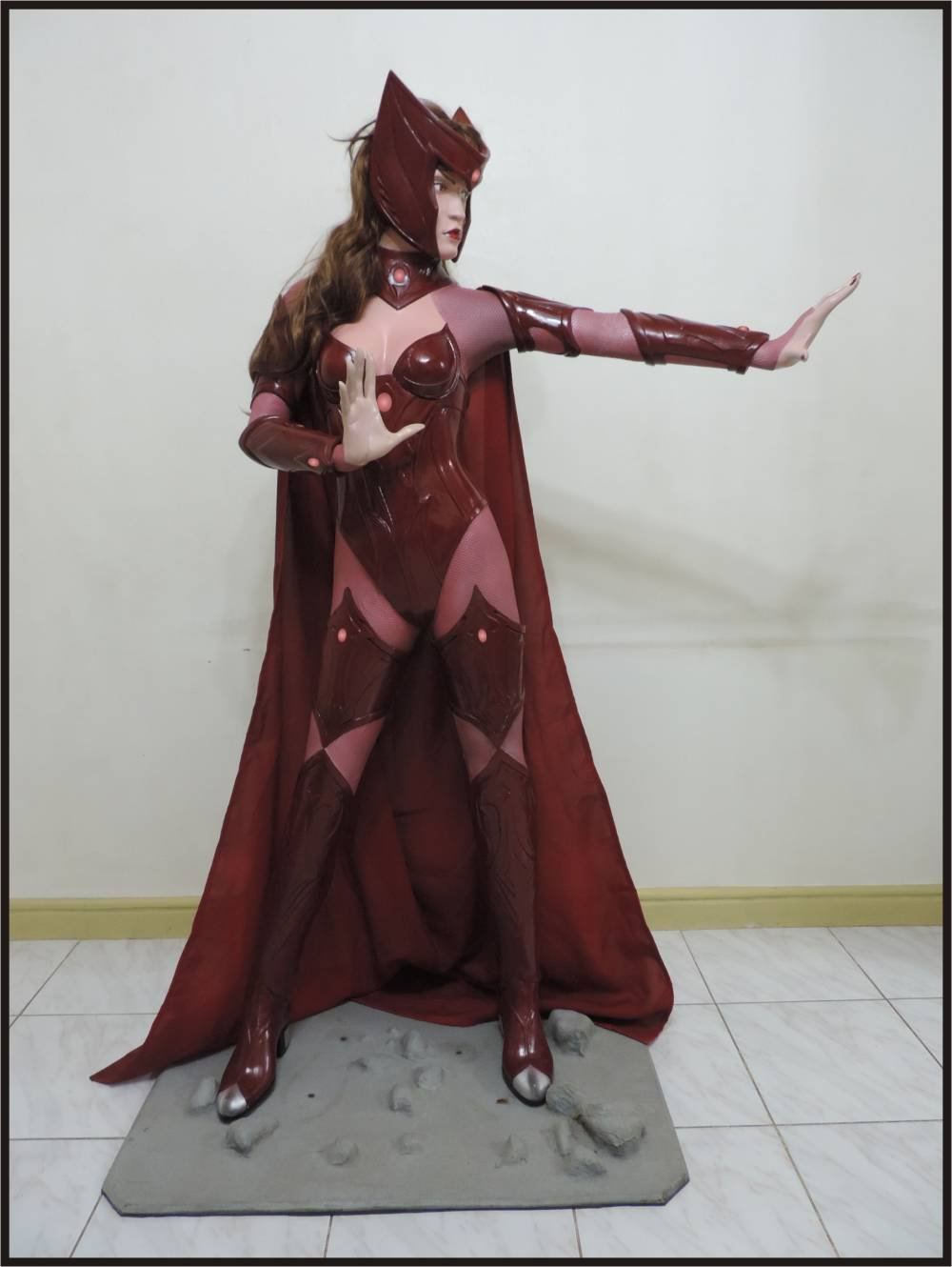 Custom Made Life Size Scarlet Witch Superhero Statue Prop