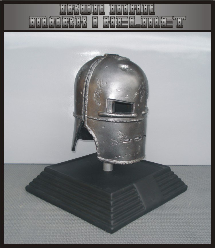 Custom Made Iron Man Mk1 Life size Helmet  Superhero Prop