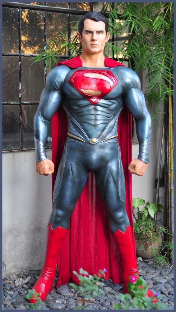 Custom Made Life Size Henry Cavill Superman Superhero Statue Prop