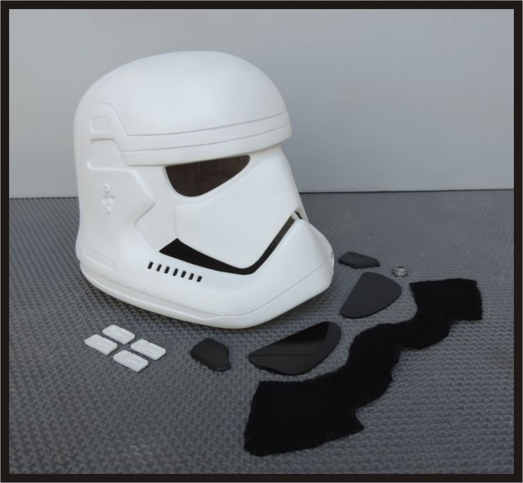 Custom Made Star Wars The Force Awakens Stormtrooper Wearable Life Size Helmet Prop Kit