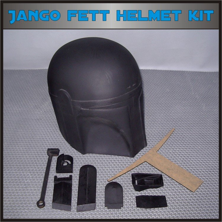 Custom Made Star Wars Jango Fett Mandalorian Life Size Helmet Prop Kit