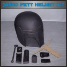 Custom Made Star Wars Jango Fett Mandalorian Life Size Helmet Prop Kit