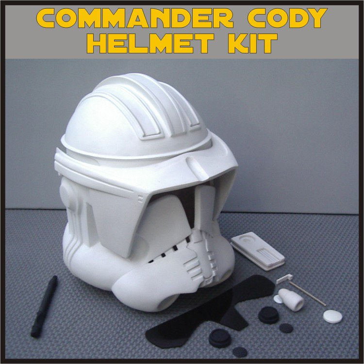 Custom Made Star Wars Clone Trooper Commander Cody Life Size Helmet Prop Kit