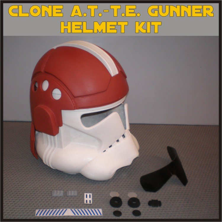 Custom Made Star Wars Clone Trooper A.T.-T.E. Gunner Life Size Helmet Prop Kit