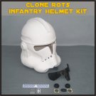 Custom Made Star Wars Clone Trooper ROTS Infantry Life Size Helmet Prop Kit