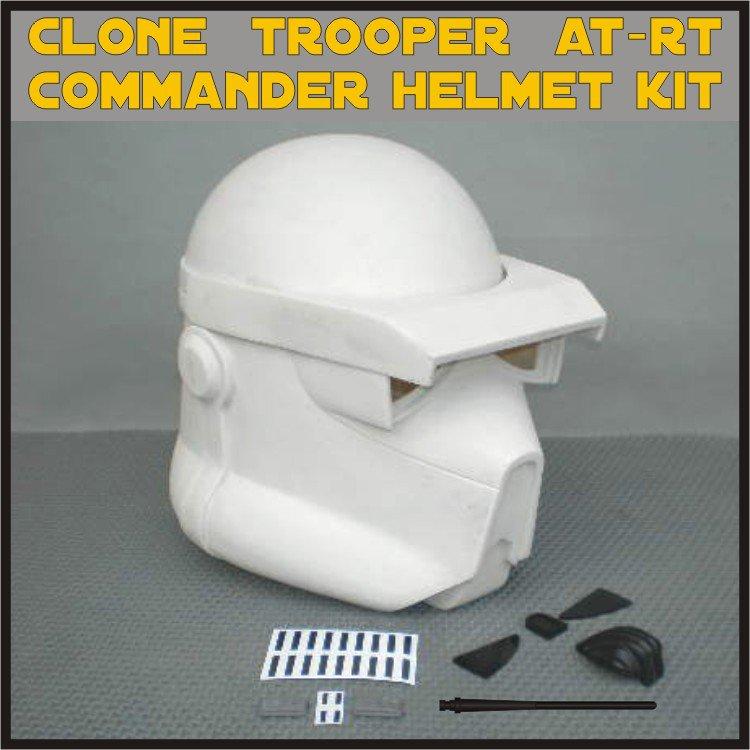 Custom Made Star Wars Clone Trooper AT-RT Commander Life Size Helmet Prop Kit