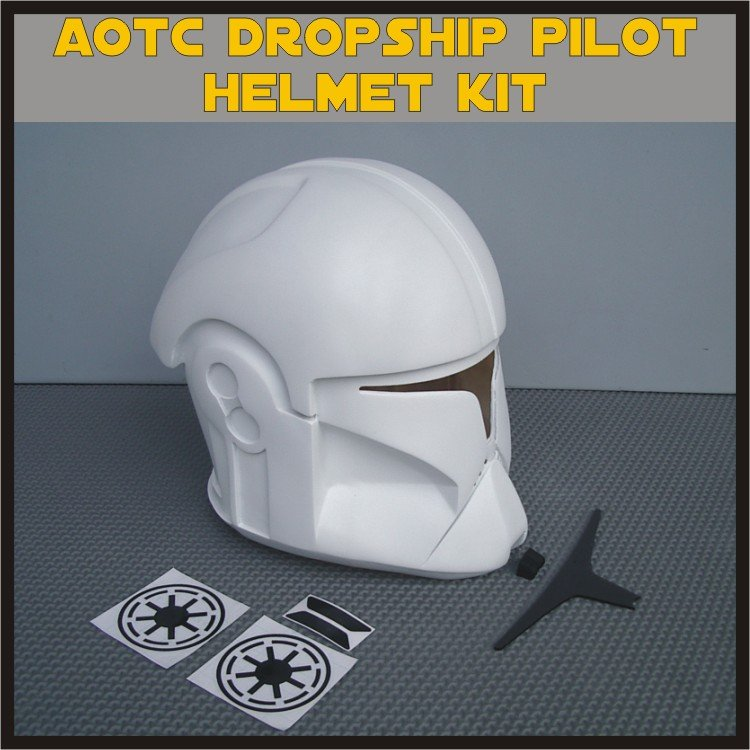 Custom Made Star Wars Clone Trooper AOTC Dropship Pilot Life Size Helmet Prop Kit