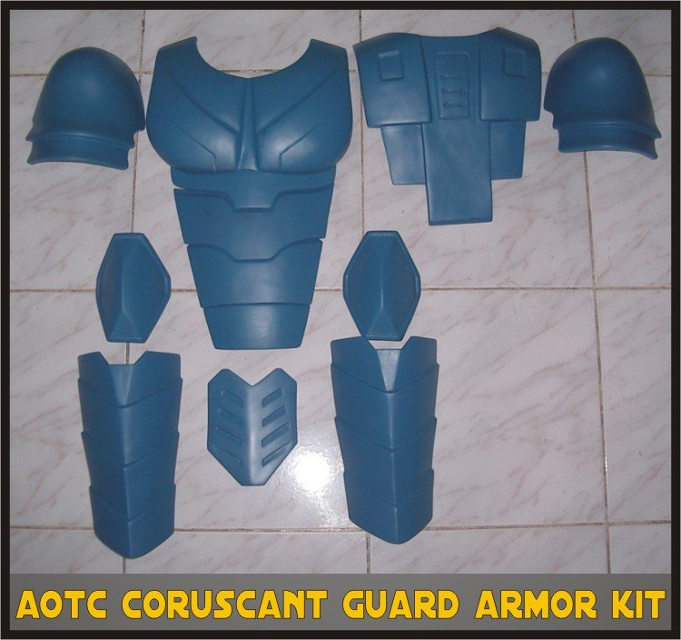 Custom Made Star Wars Coruscant Senate Guard AOTC Life Size Armor Prop Kit