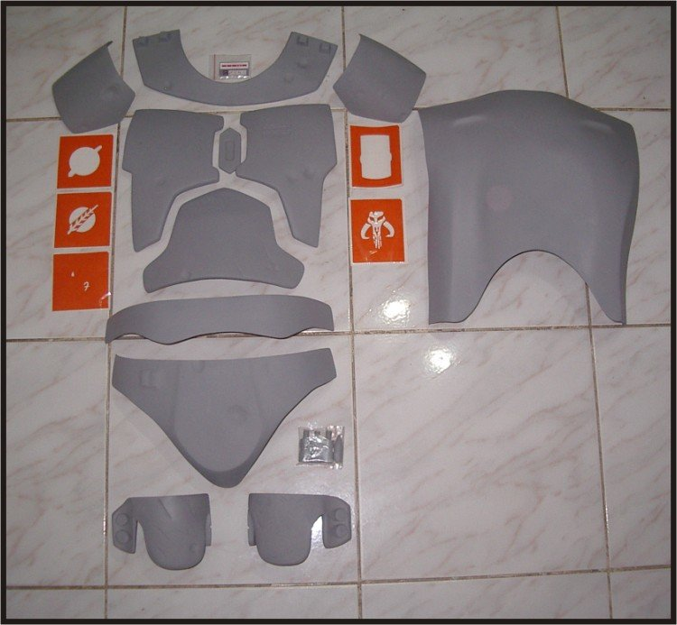 Custom Made Star Wars Boba Fett Mandalorian Body Armor Chest-Back-Cod-Knee Life Size Armor Prop Kit