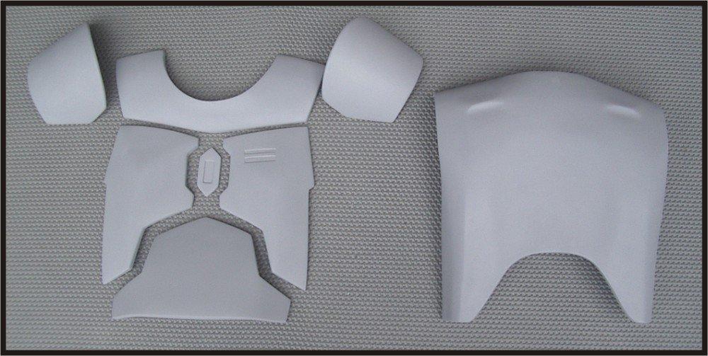 Custom Made Jango Fett Mandalorian Body Armor Chest-Back Plate Armor Life Size Armor Prop Kit Med