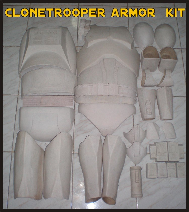 Custom Made Star Wars Clone trooper Phase 1-2 Armor Life Size Armor Prop Kit
