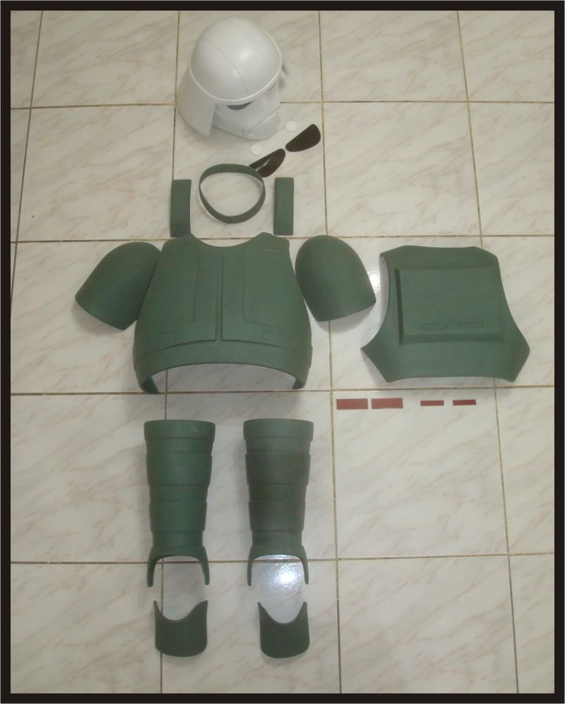 Custom Made Star Wars At-Dp Driver Armor Life Size Armor and Helmet Prop Kit