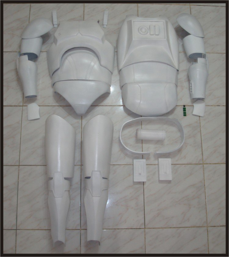 Custom Made Star Wars Clone trooper Phase 1 TCW Armor Life Size Armor Prop Kit