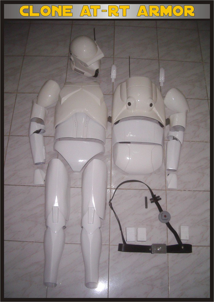 Custom Made Star Wars Clone trooper At-Rt Armor & Helmet Life Size Armor Prop Kit