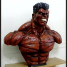 SALE: Custom Made Life Size Thunderbolt Ross Red-Hulk Superhero Bust Statue Prop