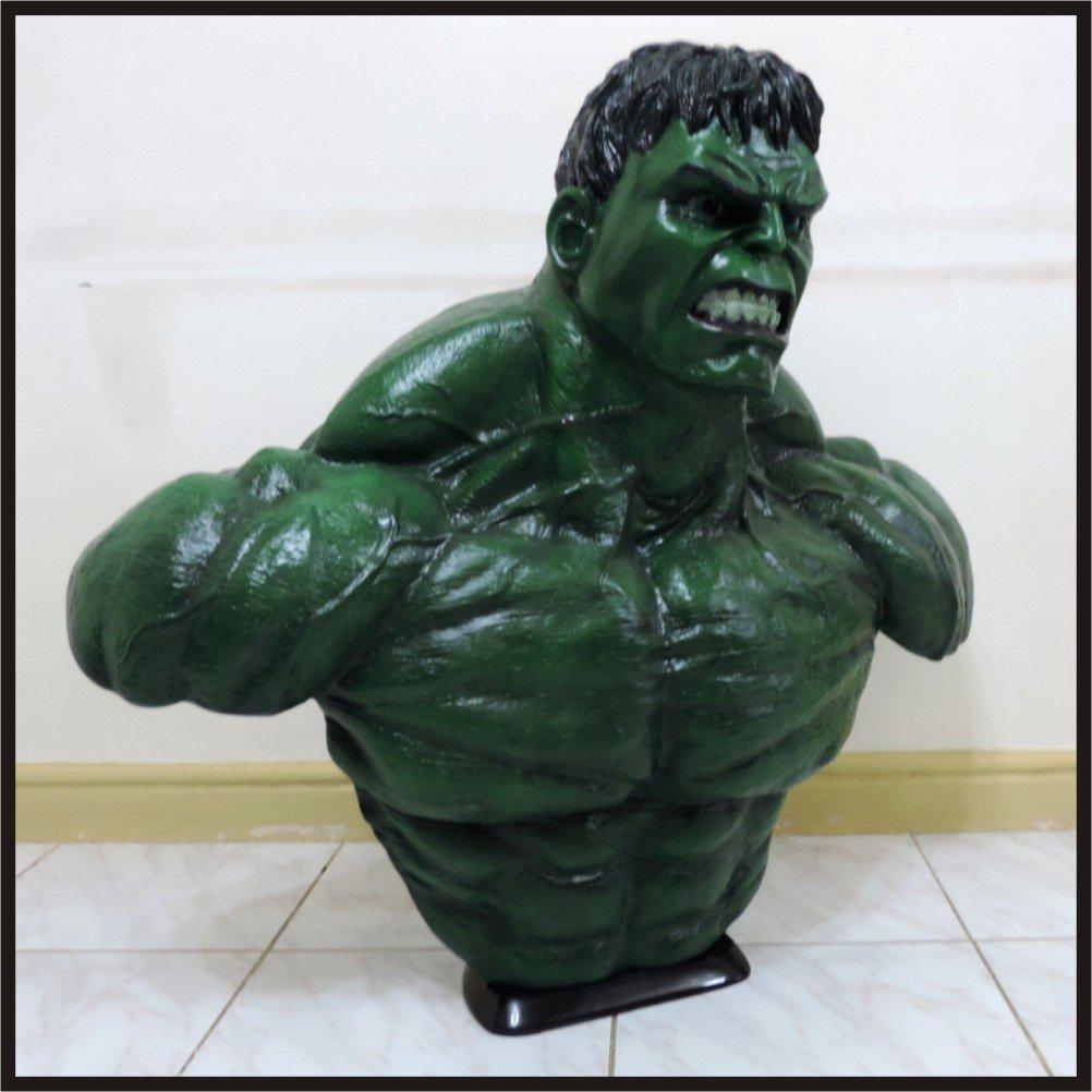 Custom Made Life Size Hulk Superhero Bust Figure Prop