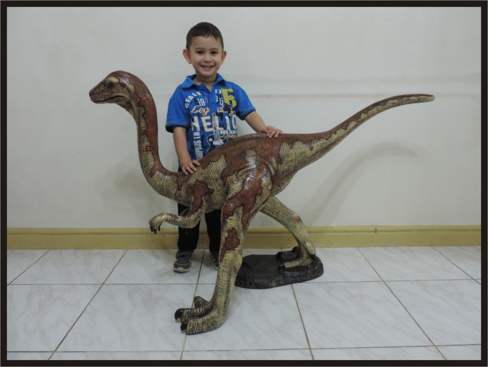 Custom Made Life Size Gallimumus Dinosaur Statue