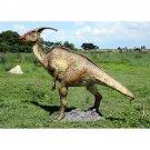 Custom Made Life Size Adolescent Parasaurolophus Dinosaur Statue