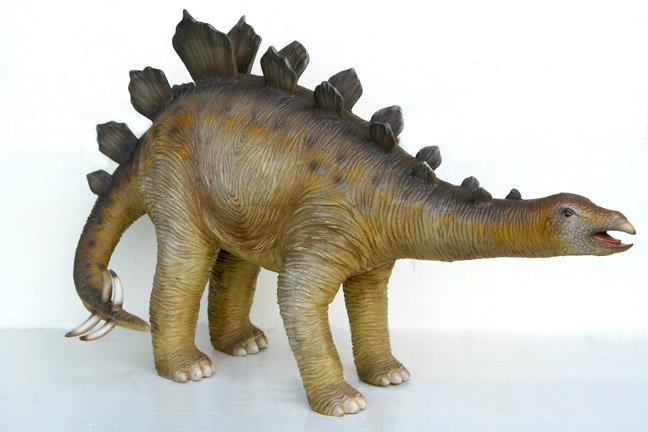 Custom Made Life Size Juvenile Stegosaurus Dinosaur Statue