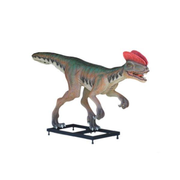 Custom Made Life Size Venenifer/Dilophosaurus 10' Dinosaur Statue