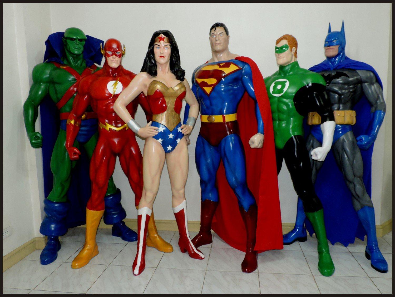 Custom Made Life Size Justice League Statue Prop