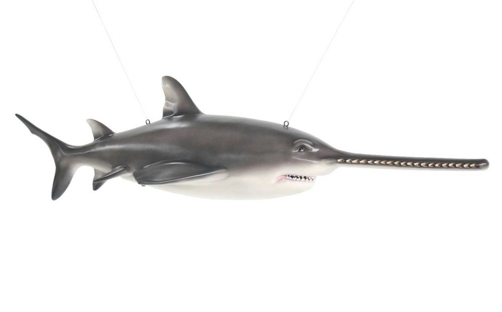 Life Size 7' Sawfish Carpenter Shark Statue