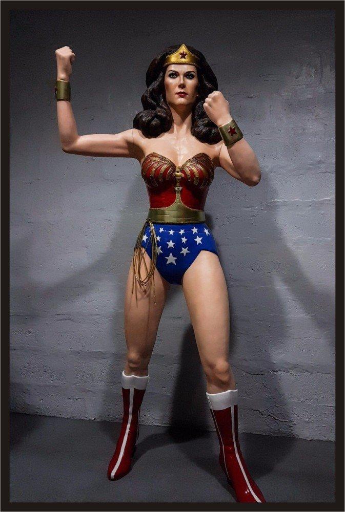 Custom Made Life Size Lynda Carter Wonder Woman Season 2-3 Statue Prop