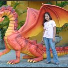 Custom Made Life Size 6' tall 12' long Dragon Statue SCA-LARP
