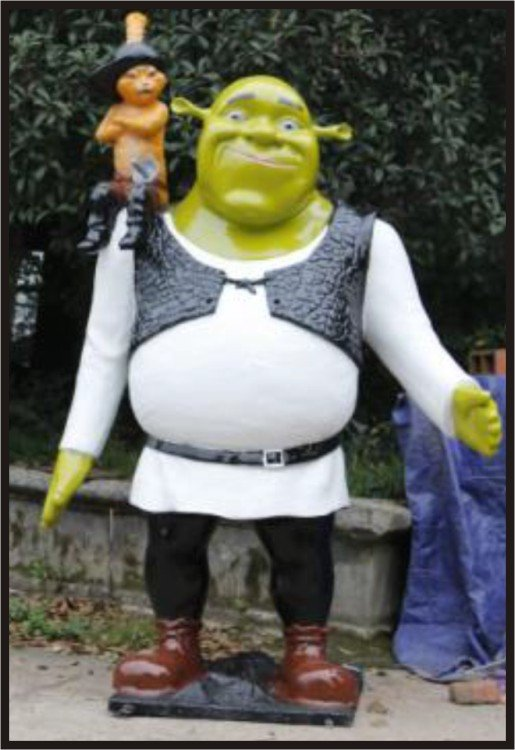 Custom Made Life Size 6.5' Shrek with Puss-N-Boots Statue