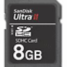 SanDisk - Ultra II 8GB Secure Digital High Capacity Memory Card