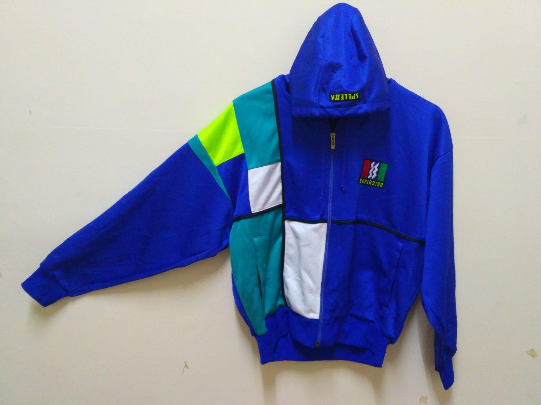 Super Star Hoodie sweater jumper colour Block training suit sports wear hip hop vintage