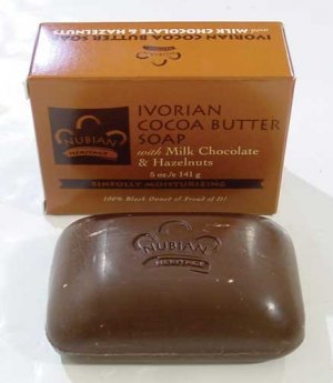 NATURAL COCOA BUTTER SOAP w/CHOCOLATE & HAZELNUTS