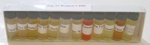 WOMEN'S FRAGRANCE OIL SETS  1/8 oz   (1 dram)