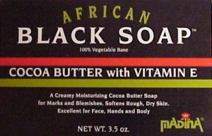 NATURAL BLACK SOAP w/VITAMIN E