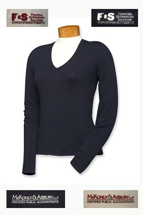 M&A V-Neck Sweater (Women's)
