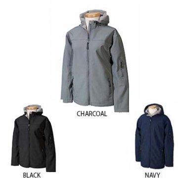 Ladies Devon & Jones Hooded Soft Shell Jacket