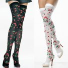 Leg Avenue Opaque Cherry Print Thigh Highs!
